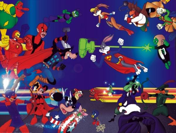 Marvel Disney Vs. DC Warner