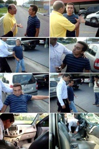 Ronaldo levando porrada de seguranças de Alfredo Nascimento