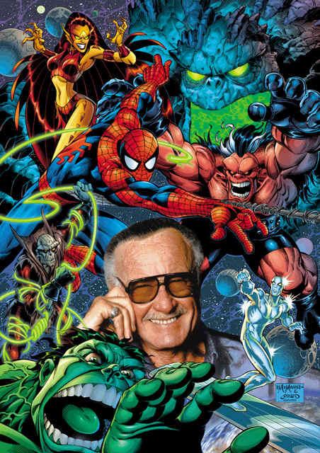 Stan lee and marvel heroes