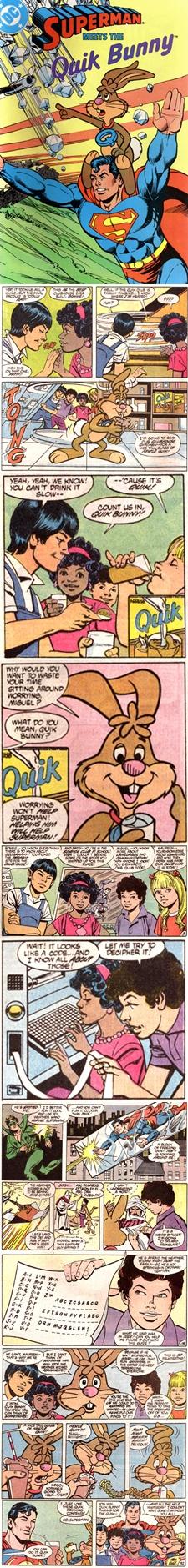 Superman Meets Quik Bunny - Superman e o Coelho Quik do Achocolatado