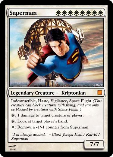 Superman - Card of Magic The Gathering