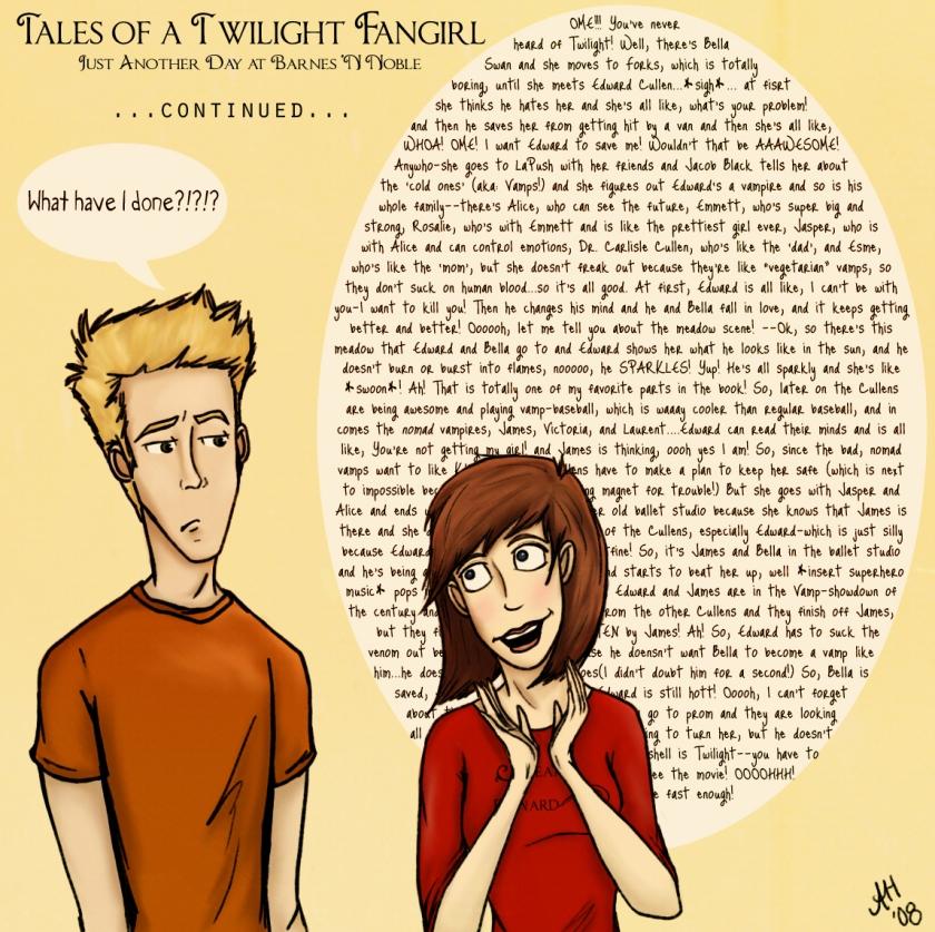 Twilight Fangirl Comic Strip - Histórias de uma fan-girl de Crepúsculo