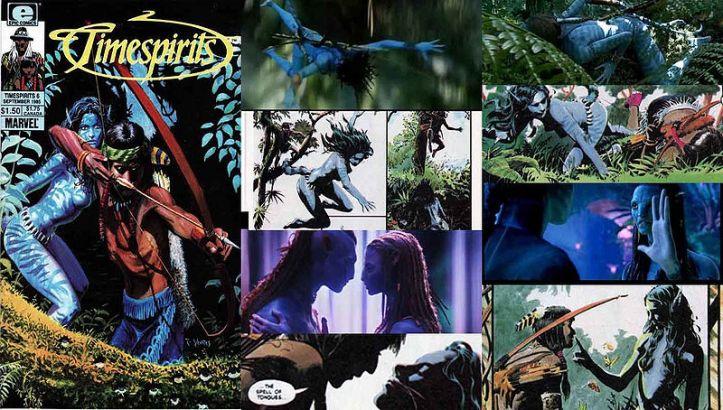 Avatar plágio de Timespirits da Marvel Anos 80