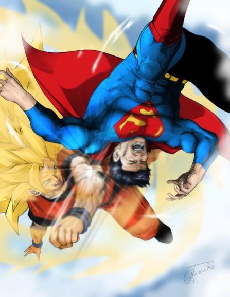 Superman Vs. Kakaroto - Goku Wins Perfect