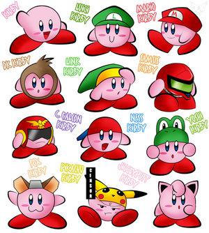 Kirby Smash Bros - Todas as formas possíveis absorvendo os melhores de todos os personagens