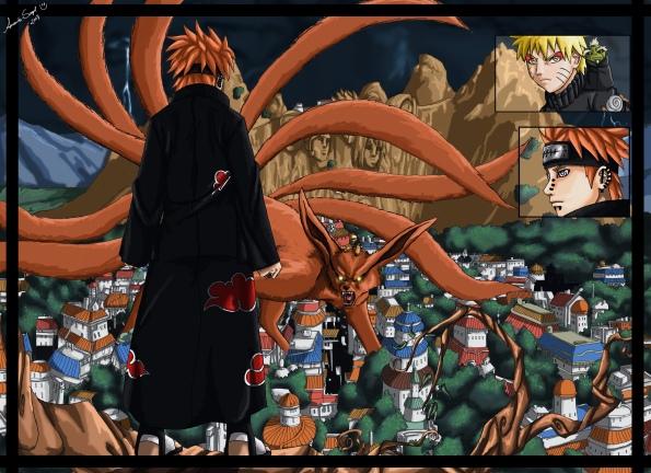 Naruto (Kyuubi) Vs. Pain