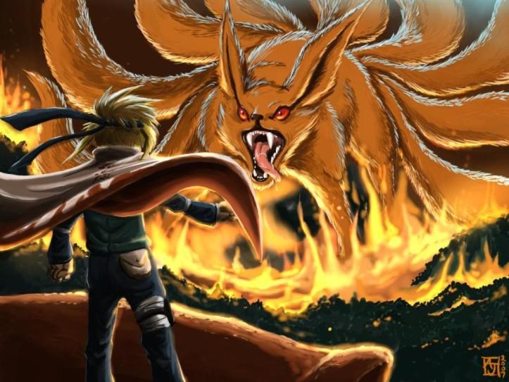 Naruto (Yondaime) Vs Kyuubi - Naruto Shippuuden