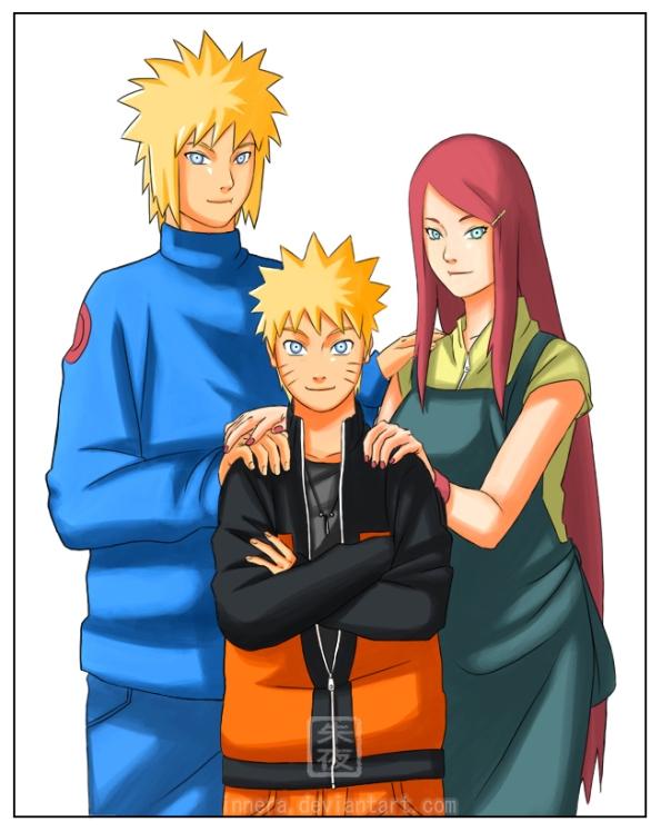 Minato Kushina e Naruto (Família Reunida)