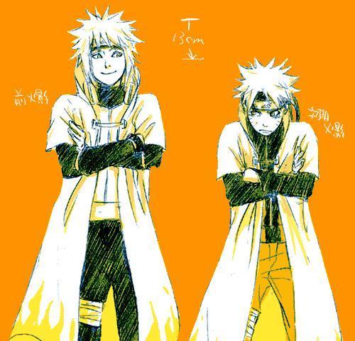 Naruto e Quarto Hokage (Pai e filho)