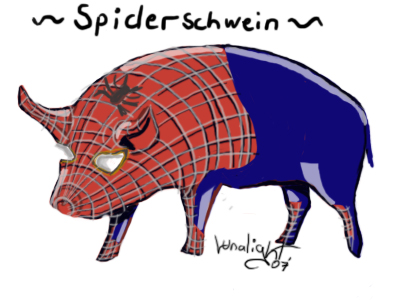 Spider-Pig is coming!