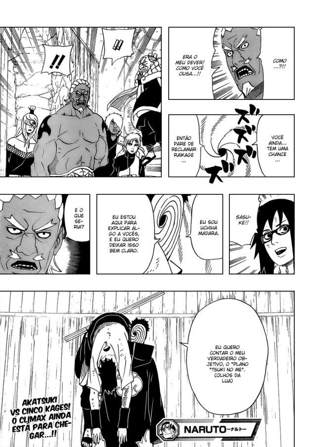 Naruto 466 - Tobi salva a bunda de Sasuke - O menino apanhou mais que um Saco de Areia