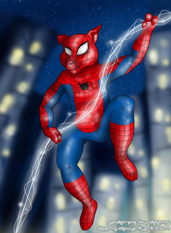 Na Web do Spider-Porco