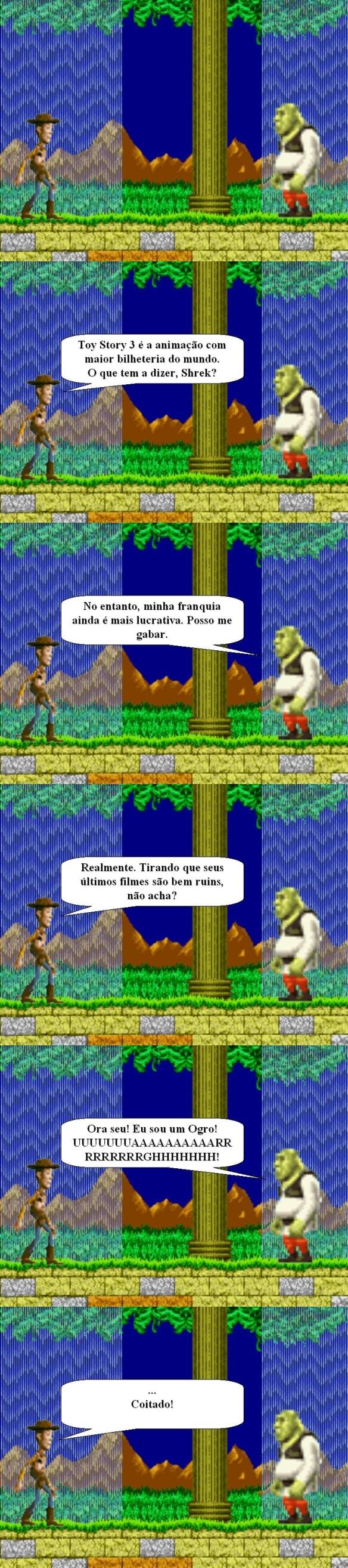 Woody Vs. Shrek