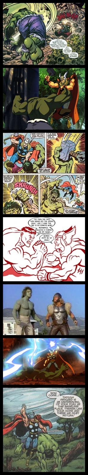O Incrível Hulk Vs. O Poderoso Thor - Confrontos Épicos