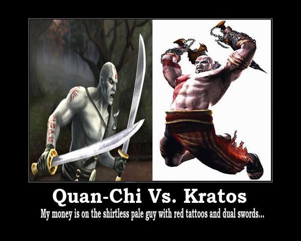 Quan-Chi Vs. Kratos - A batalha dos irmãos separados no nascimento - Ambos são Shit Tier