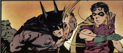 Batman - My Parents are Dead Too - Robin slaps Batman´s Face