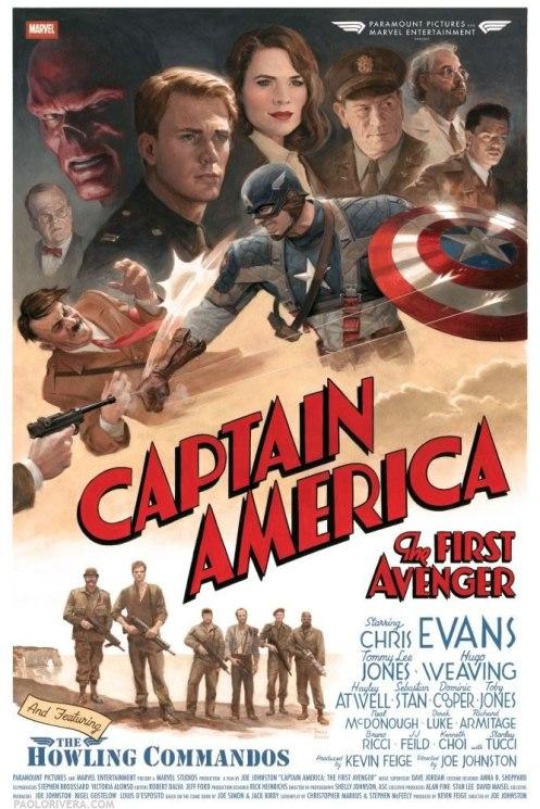 Captain America - The First Avenger - Poster Retro