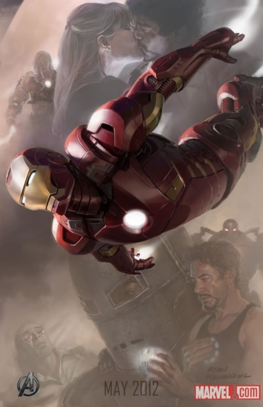 The Avengers Iron Man Poster - Uniforme Homem-de-Ferro Comic Con 2012