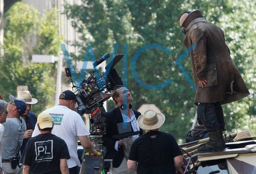 The Dark Knight Rises - Bane Tom Hardy - Fotos do Set com Christopher Nolan