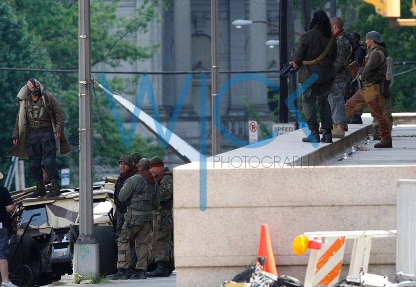 The Dark Knight Rises - Bane Tom Hardy - Fotos do Set