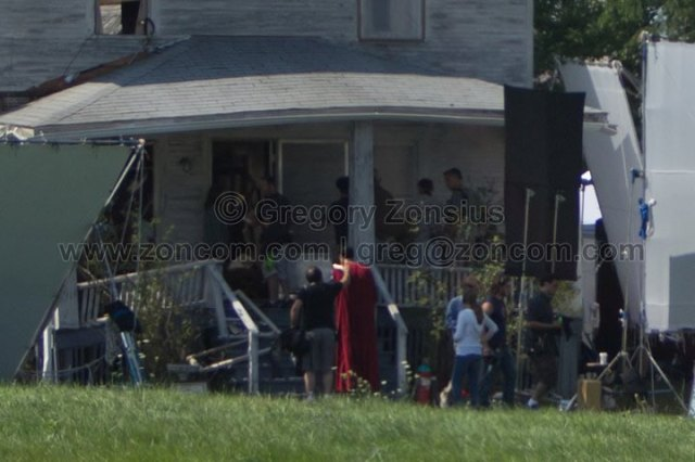 Superman - Man of Steel - Fotos do Set - Superman 01