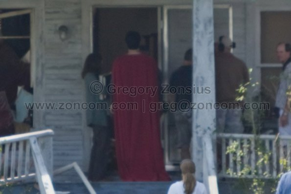 Superman - Man of Steel - Fotos do Set - Superman 03