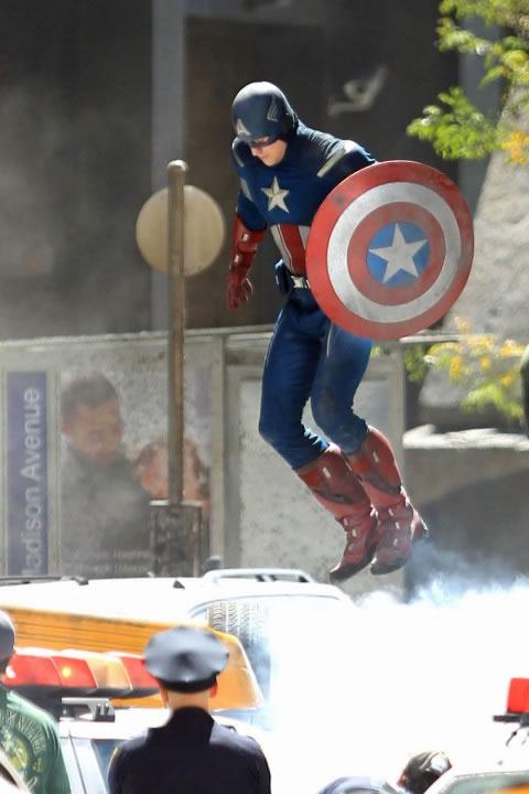 The Avengers - Foto do Set - Capitão America (Captain America) 2