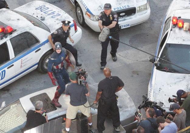 The Avengers - Foto do Set - Capitão America (Captain America) 3