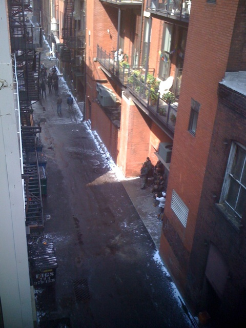 The Dark Knight Rises - Fotos do Set - Alley Near AIA Chapter (Pittsburgh)