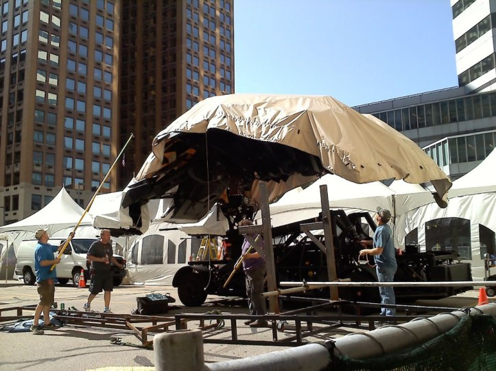 The Dark Knight Rises - Fotos do Set - Batwing em Pittsburgh 2