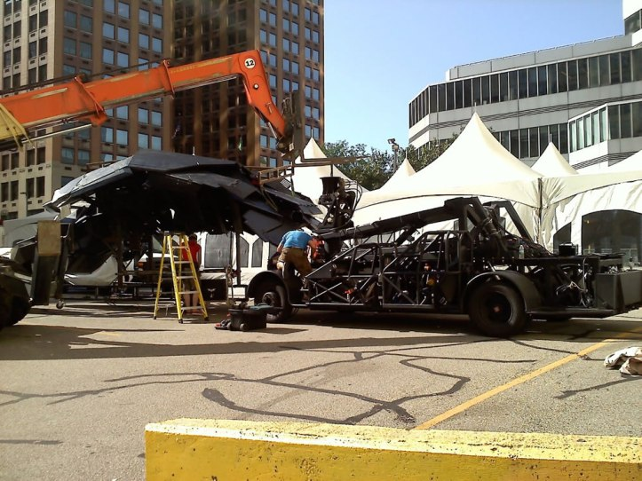 The Dark Knight Rises - Fotos do Set - Batwing em Pittsburgh
