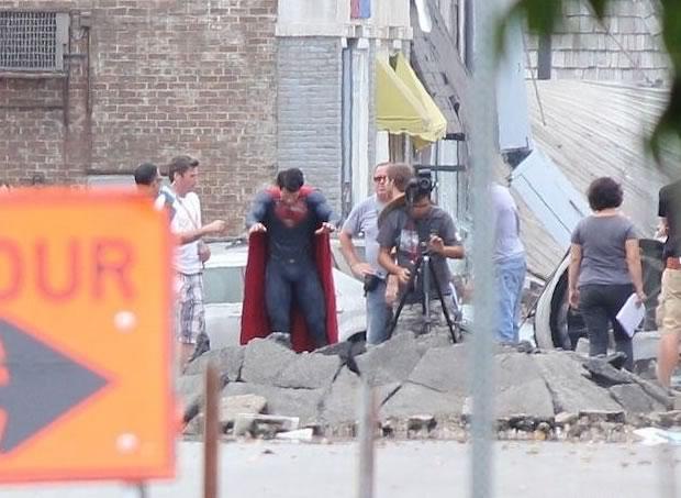 Superman - Man of Steel - Fotos do Set - Superman 08