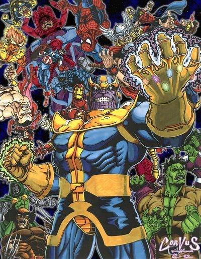 Thanos e a Manopla do Infinito em The Avengers 2012