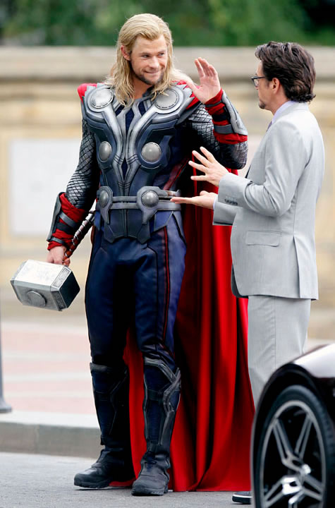 The Avengers (Os Vingadores) - Fotos do Set - Thor e Tony Stark