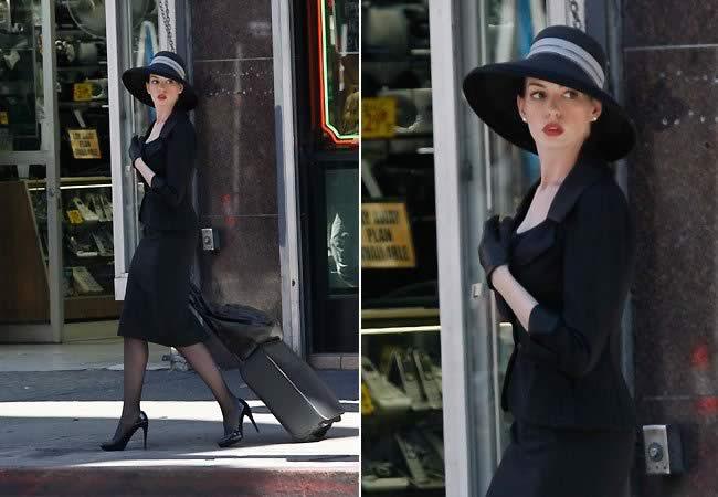 The Dark Knight Rises - Anne Hathaway (Selina Kyle) on Set