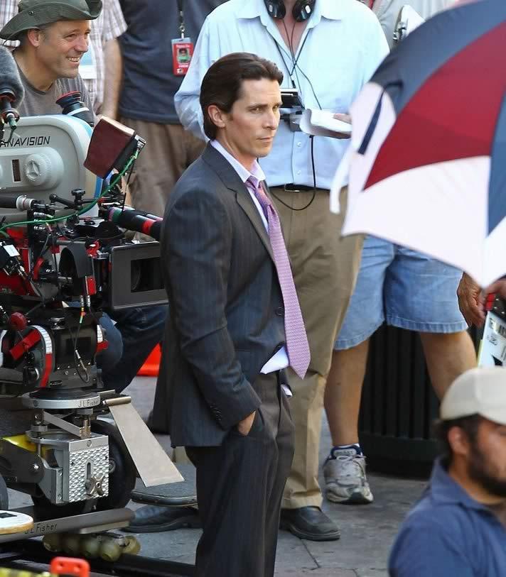 The Dark Knight Rises - Christian Bale (Bruce Wayne) on Set