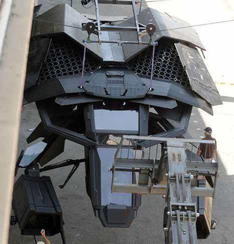 The Dark Knight Rises - Set - Los Angeles - Batwing 02