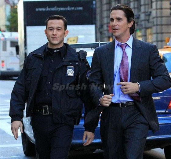 TDKR - Christian Bale e Joseph Gordon-Levitt em New York 02