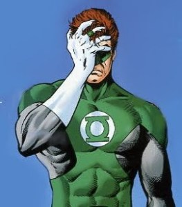 Green Lantern Facepalm and Shame