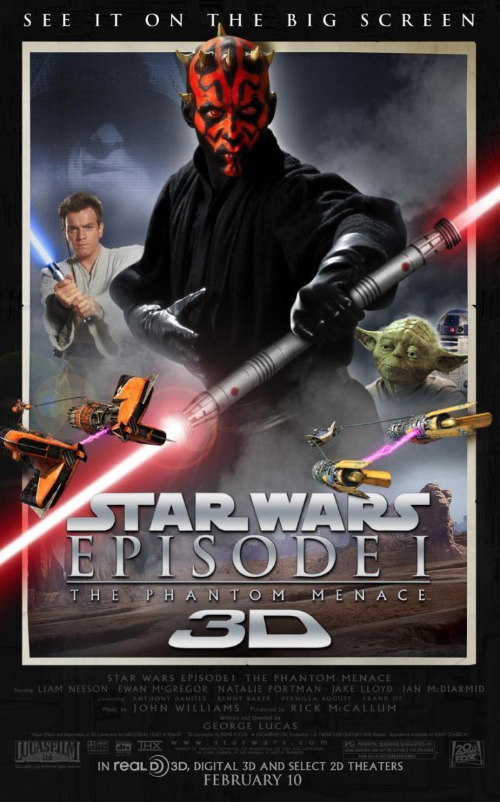 Star Wars Phantom Menace 3D