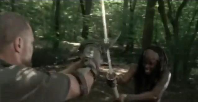 The Walking Dead - Season 3 - Hounded - Merle Vs. Michonne