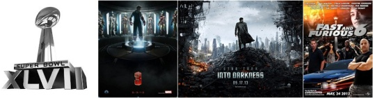 Super Bowl 2013 - Iron Man 3, Star Trek Into Darkness, Fast and Furious 6 and others Trailers