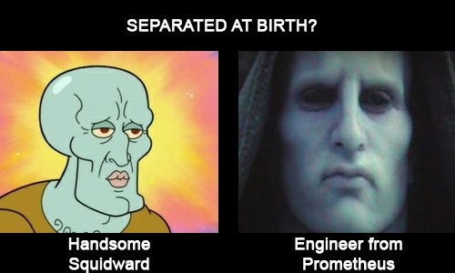 Handsome Squidward - Engineer from Prometheus