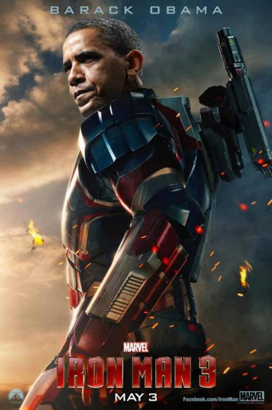 Homem de Ferro 3 - Iron Obama Fan Made Poster