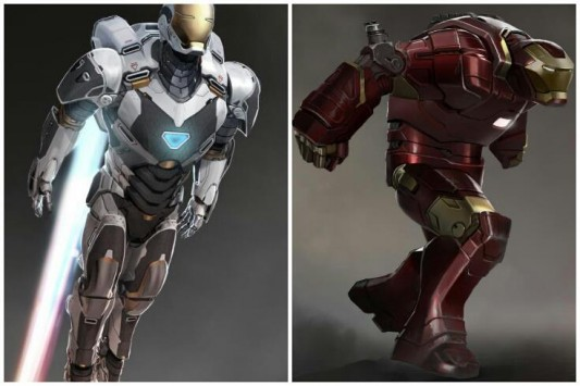 Iron Man 3 - Concept Art - Space Suit e Hulkbuster