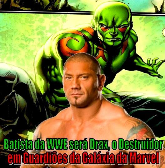 Batista da WWE será Drax, o Destruidor em Guardiões da Galáxia