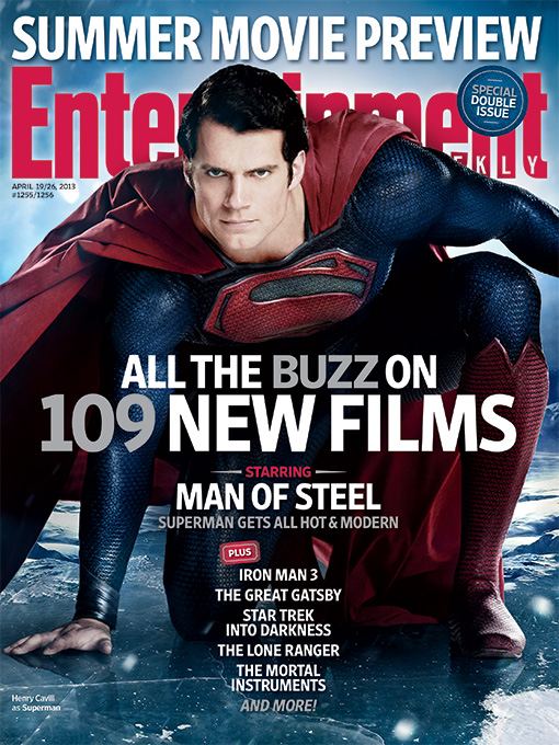 Super Movie Preview - Capa com Superman - Man of Steel