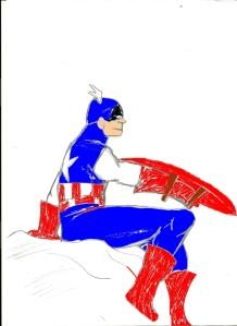 Capitão América - Guerras Secretas - Colorido - Bignada Fan Art