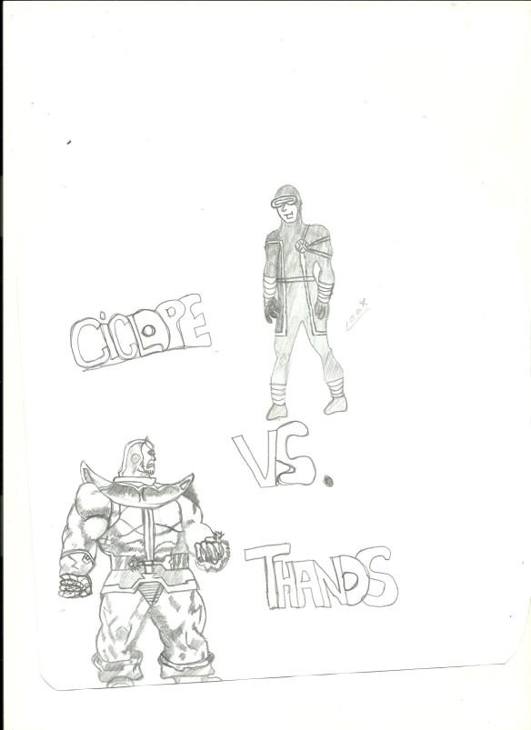 Ciclope Vs. Thanos - Bignada Fan Art