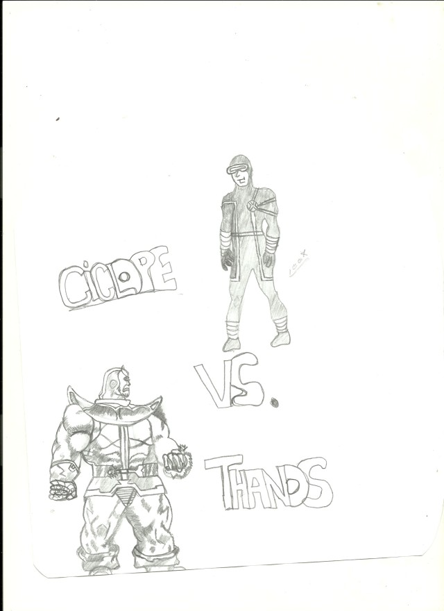 Ciclope Vs. Thanos - Bignada Fan Art